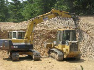 Excavation for a foundation