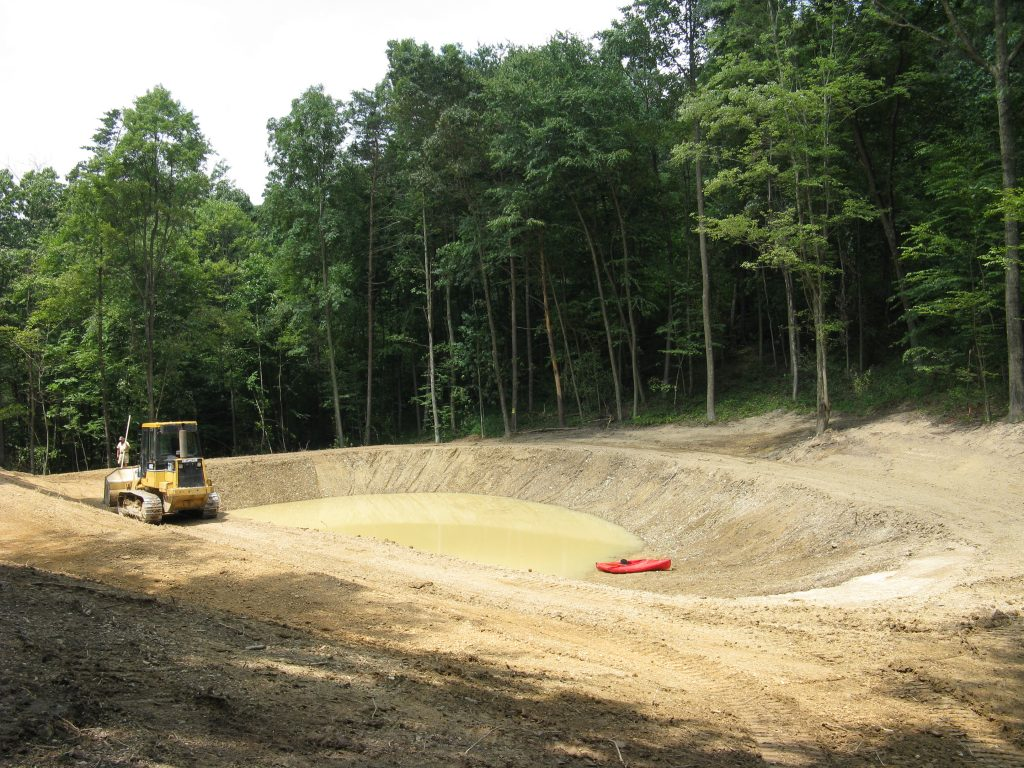 Excavation of a New Pond